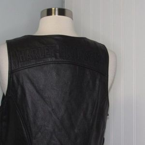 Harley Davidson | Lace Up Side Leather Vest